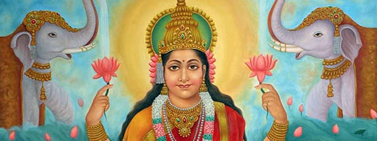worship of kamala  lotus goddess of spiritual wealth