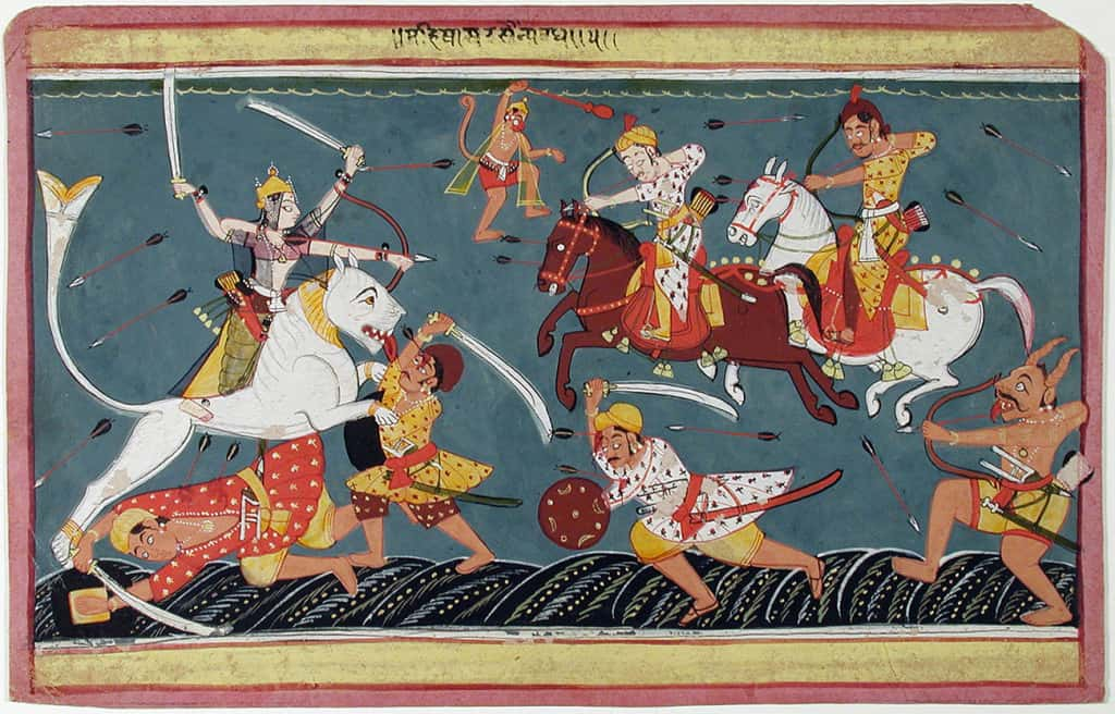 Episode from the Devi Mahatmya, circa 1645 (Photo courtesy © San Diego Museum of Art)