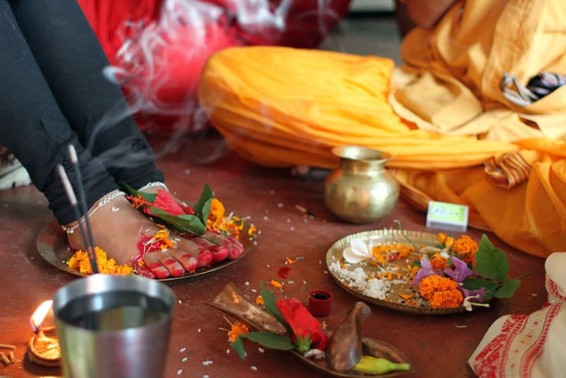Kumari Puja at Kamakhya (Photo courtesy © Kulasundari Devi)